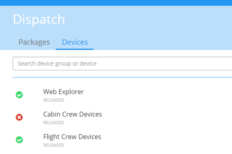 Set groups of mobile devices